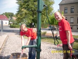 Heißer Wahlkampftag. Brauchten dringend Wasser.