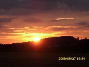 Am Ende des Tages genossen wir den Sonnenuntergang